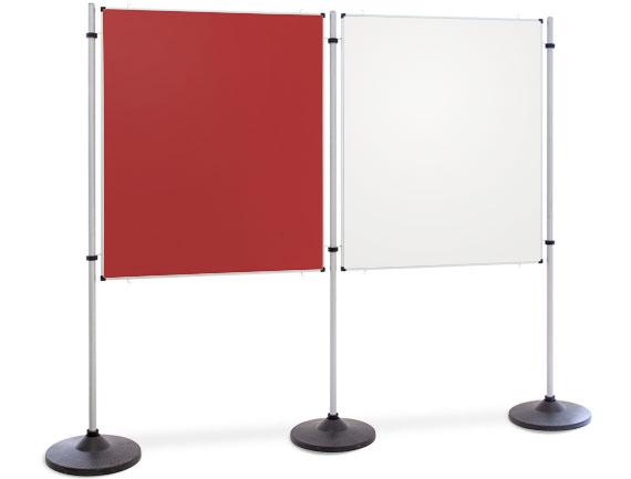 Kombinationswand Doppel-Präsentations- und Kommunikationsflächen