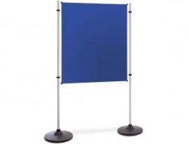 Präsentations- und Kommunikationswand Flanell Blau