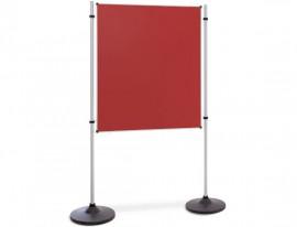 Präsentations- und Kommunikationswand Flanell Rot